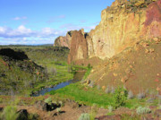 Reflective Water Photos - Smith Rock by Bonnie Bruno