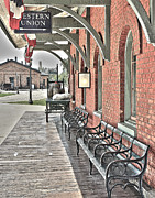 Depot Framed Prints - Smiths Creek Train Depot Framed Print by Jack Schultz
