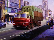 Streetscene Paintings - Smiths Scammell Routeman II by Mike  Jeffries
