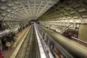 Smithsonian Prints - Smithsonian Metro Station Print by Shelley Neff