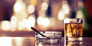 Y120831 Art - Smoke And Drink Bokeh by Andy Collins Photography