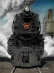 Transportation Painting Metal Prints - Smoke and Steam Metal Print by David Mittner