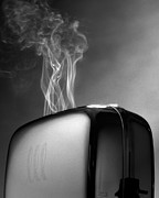 Toaster Prints - Smoke Coming Out Of A Toaster Print by John Manno