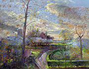Garden Art - Smoke Drift - Autumn by Timothy Easton