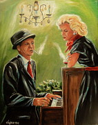 Frank Sinatra Painting Originals - Smoke Gets In Your Eyes by Dyanne Parker