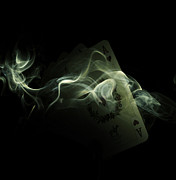Card Tapestries Textiles Originals - Smoke by Ivan Vukelic