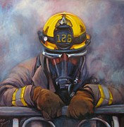 Fireman Paintings - Smoke Jumper 126 by Pat Burns