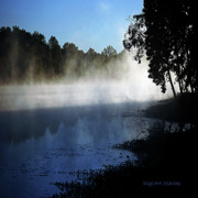 Indiana Landscapes Art - Smoke on the Water by DigiArt Diaries by Vicky Browning