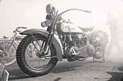 Vintage Motorcycle Prints - Smoke Out Print by Marley Holman