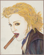 Cigar Mixed Media Prints - Smoke Signals Print by Joseph Lawrence Vasile