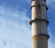 Polluting Prints - Smokestack Print by Skip Nall