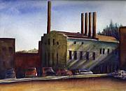 Patrick Paintings - Smokestacks by Patrick Willett