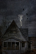 Abandoned Houses Prints - Smokey Abandon Print by Emily Stauring