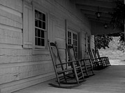 Log Cabin Photographs Photos - Smokey Mountain Front Porch by Elizabeth Coats