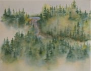 Smokey Mountains Paintings - Smokey Mountain Memories 3 by Lisa Bell