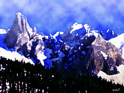 Skiing Pastels - Smokey Mountain Range by Tyler Martin