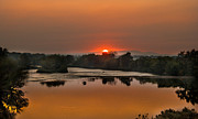 Landsacape Posters - Smokey sunset on the Payyett River Poster by Robert Bales