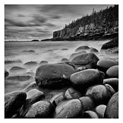 Bar Harbor Acrylic Prints - Smokey Water at Otter Point Acrylic Print by Chad Tracy