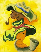Haitian Painting Framed Prints - Smokin Framed Print by Herold Alvares