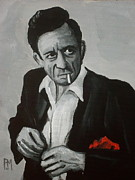 Red And Black Prints - Smokin Johnny Print by Pete Maier