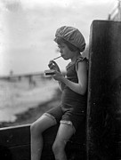 Ledge Framed Prints - Smoking Child Framed Print by General Photographic Agency