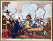 Humorous Artwork Posters - Smoking Club, 18th Century Artwork Poster by George Arents Collectionnew York Public Library
