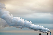 Factory Photo Prints - Smoking In The Clouds Print by Jane Kerrigan