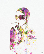 Smoker Digital Art Prints - Smoking in the Sun Print by Irina  March