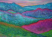 Abstract Landscape Pastels - Smoky Mountain Abstract by Nancy Mueller