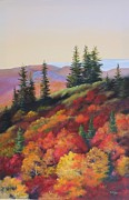 Smoky Mountains Paintings - Smoky Mountain Overlook by Diana  Tyson