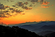 Smoky Posters - Smoky Mountain Sunrise Poster by Robert Harmon