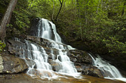 Mountain Scene Prints - Smoky Mountain Waterfall Print by Andrew Soundarajan