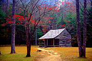 Mountain Cabin Metal Prints - Smoky Mtn. Cabin Metal Print by Paul W Faust -  Impressions of Light