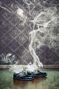 Wallpaper Art - Smoky Shoes by Joana Kruse