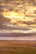 Flagstaff Posters - Smoky Sunset Over Boulder Colorado  Poster by James Bo Insogna