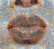 Mosaic Digital Art Prints - Smooch Print by Boy Sees Hearts