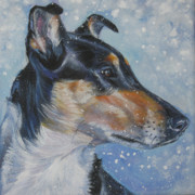 Smooth Painting Prints - Smooth Collie Print by Lee Ann Shepard