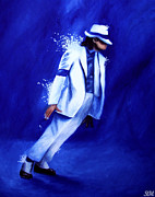 Portraits Metal Prints - Smooth Criminal Metal Print by Stephanie Moore