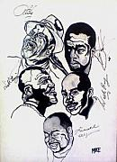 Autographed Drawings Originals - Smooth Jazz All-Stars by Michael Fields