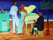 Jazz Painting Originals - Smooth Jazz by Victoria  Johns