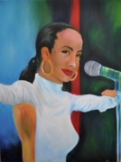 American Singer Paintings - Smooth operator by Mitchell Todd