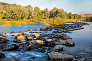 Silk Water Prints - Smooth Rapids Print by Robert Bales