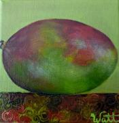 Mango Painting Originals - Smooth-Skinned Mango by Tammy Watt