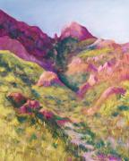 Mountains Pastels Prints - Smugglers Gap Canyon Print by Candy Mayer