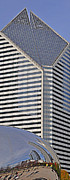 Chicago Digital Art Metal Prints - Smurfit and The Bean Metal Print by Mary Machare