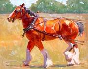 Sunshine Paintings - Snaffle Training by Susan F Greaves