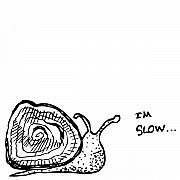 Snail Drawings Framed Prints - Snail - Im Slow Framed Print by Karl Addison