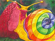 Snail Paintings - Snail Nirvana by Catherine G McElroy