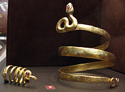 Ancient Greek Jewelry Prints - Snake bracelet and ring Print by Andonis Katanos