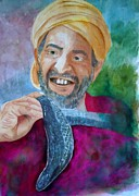 Serpents Painting Prints - Snake Charmer - Tangier Morocco Print by Sharon Mick
